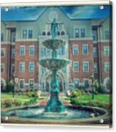 College Fountain Acrylic Print