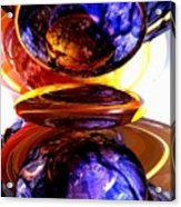 Colliding Forces Abstract Acrylic Print