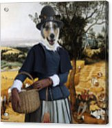 Collie Smooth - Smooth Collie Art Canvas Print - The Harvesters Acrylic Print