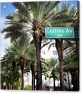 Collins Av A1a Acrylic Print