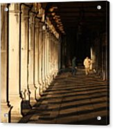 Collonade At San Marco In Venice In The Morning Acrylic Print