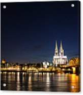 Cologne At Night Acrylic Print by Alexandra-Emily Kokova