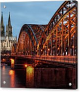 Cologne Cathedral At Dusk Acrylic Print
