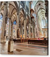 Cologne Cathedral Interior Acrylic Print
