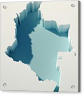 Colombia Simple Intrusion Map 3d Render Acrylic Print