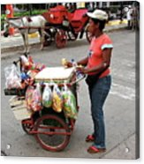 Colombia Srteet Cart Acrylic Print
