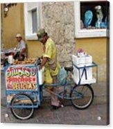 Colombia Srteet Cart II Acrylic Print