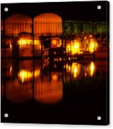 Colonial Beach Docks After Dark Acrylic Print
