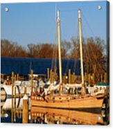 Colonial Beach Docks Acrylic Print