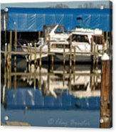 Colonial Beach Marina Acrylic Print
