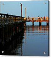 Colonial Beach Town Pier Acrylic Print