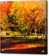 Colonial Fall Colors Acrylic Print