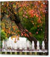 Colonial Fall Colors Acrylic Print