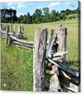 Colonial Fence At The Home Of Booker T Washington Acrylic Print