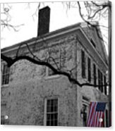 Colonial House With Flag Acrylic Print