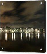 Colonial Lake At Night Acrylic Print