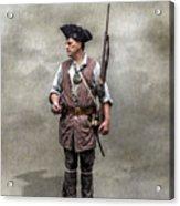 Colonial Militia Soldier 1777 Acrylic Print