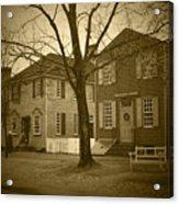 Colonial Shops - Bw Acrylic Print