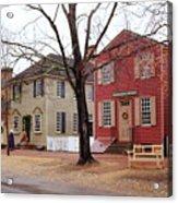 Colonial Shops Acrylic Print