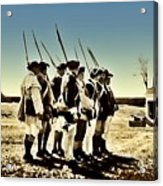 Colonial Soldiers Standing At Attention Acrylic Print