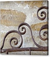 Colonial Wrought Iron Gate Detail Acrylic Print