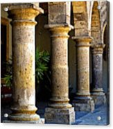 Colonnades Acrylic Print by Mexicolors Art Photography