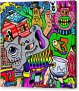Color Bash Acid Tweeter Acrylic Print