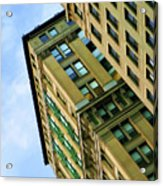 Color Buildings Architecture New York  Acrylic Print
