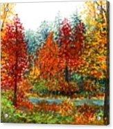Color Burst Forest Acrylic Print