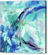 Color Chaos Aqua Acrylic Print
