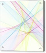 Color Computer Graphic Line Pattern Acrylic Print
