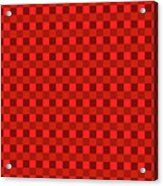 Color Dots On Red Drawing Abstract #7 Acrylic Print