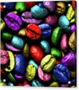 Color Full Coffe Beans Acrylic Print