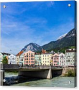 Color In Innsbruck Acrylic Print