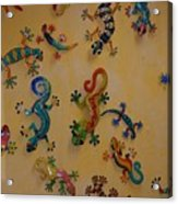 Color Lizards On The Wall Acrylic Print