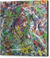 Color Map From The Sky And Ice Figure  Acrylic Print