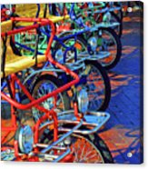 Color Of Bikes Acrylic Print