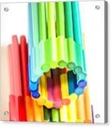 Color Pens 10 Acrylic Print
