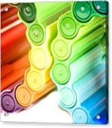 Color Pens 3 Acrylic Print