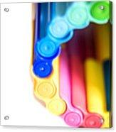 Color Pens 8 Acrylic Print