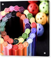 Color Pens2 Acrylic Print