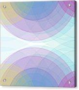 Color Semi Circle Background Horizontal Acrylic Print
