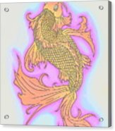 Color Sketch Koi Fish Acrylic Print