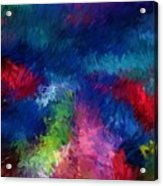 Color Splash Abstract 080210 Acrylic Print