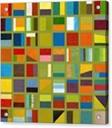 Color Study Collage 64 Acrylic Print by Michelle Calkins