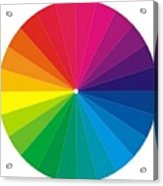 Color Wheel Acrylic Print