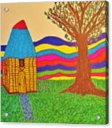 Colorful Fantasy Land Acrylic Print