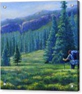 Colorado Backpacker Acrylic Print