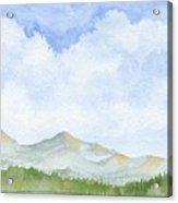 Colorado Cloudscape Acrylic Print