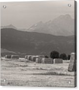 Colorado Farming Panorama View In Black And White Pt 1 Acrylic Print